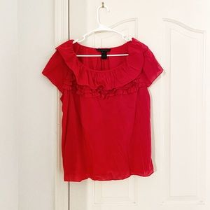 Marc By Marc Jacobs Red Ruffled Top